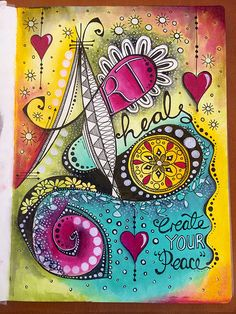 Doodle art journal page - Art Heals | Tracy Scott | Flickr