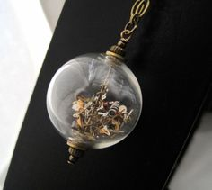 Time Bubble Necklace by SeahagAndWalrus on Etsy    Do this only on a much larger scale. :)