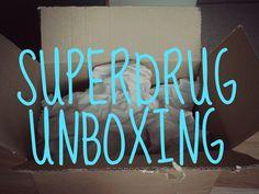 Superdrug Unboxing - Megan Time Blog