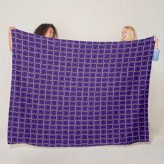 Blue Diamond Unicorn Mosaic Pattern Fleece Blanket - pattern sample design template diy cyo customize