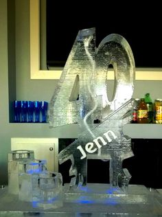 "A ""40"" ice luge for a private birthday party. #iceluges"