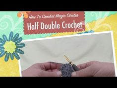 Learn how to do a Magic Circle using Half Double Crochet (HDC). This allows your interior of your round projects to be perfect and very tight. I have other videos on Single Crochet, Double Crochet or Treble Crochet Magic Circles. Learn To Crochet, Diy Crochet, Crochet Crafts, Crochet Projects, Crochet Tutorials, Free Tutorials, Crochet For Dummies, Crochet Videos, Crochet For Beginners