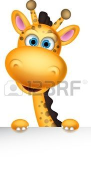 Illustration of cute giraffe cartoon with blank sign vector art, clipart and stock vectors. Giraffe Drawing, Giraffe Art, Cute Giraffe, Clipart Baby, Cartoon Giraffe, Cartoon Art, Cute Drawings, Animal Drawings, Giraffe Illustration