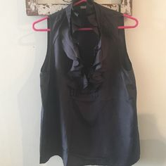 Great top! Ruffles at the top with buttons Worn a couple times! Great top for work or going out J. Crew Tops Blouses