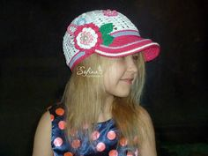 Cap with flower for girls