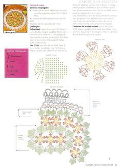 CROCHE COM RECEITAS: Centro De Mesa Em Crochê Floral