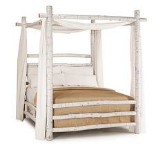 Rustic canopy beds by La Lune Collection are designer quality, hand-crafted furniture made in the USA. Rustic Canopy Beds, Rustic Bedding, Log Furniture, Furniture Making, Furniture Design, Master Bedroom Design, Dream Bedroom, My New Room, Bedroom Decor