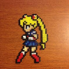 Sailor Moon perler beads by figgleforth