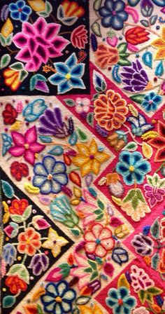 Peruvian textile.  Love the colors!