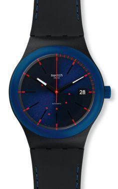montre noire sistem51 notte swatch SUTB403