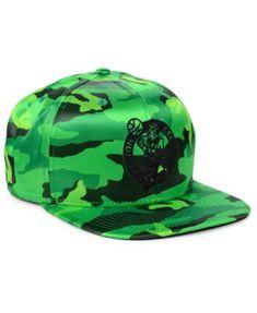 new style 98684 e7fd9 New Era Boston Celtics Satin Camo 9FIFTY Cap - Green Adjustable