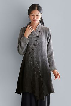 Moraine Jacket by Cynthia Ashby: Linen Jacket available at www.artfulhome.com