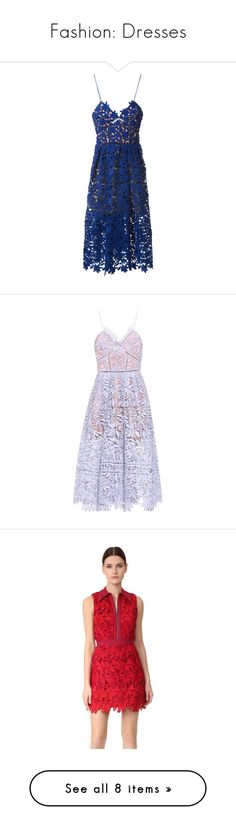 """""""Fashion: Dresses"""" by katiasitems on Polyvore featuring dresses, formal dress, lace, self portrait dress, blue formal dresses, v neck lace dress, formal cocktail dresses, royal blue formal dresses, vestidos and purple"""