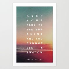 Face to the Sunshine Art Print by Zeke Tucker | Society6