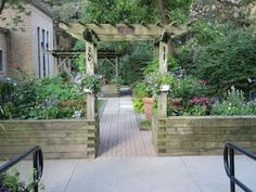 Pergola Ideas For Deck Next Garden, Garden Yard Ideas, Dream Garden, Garden Beds, Garden Projects, Home And Garden, Garden Art, Deck With Pergola, Cheap Pergola