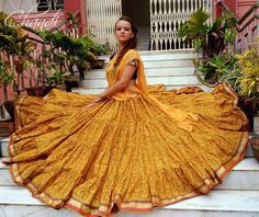 The latest and greatest in bohemian style! Sharara Designs, Choli Designs, Bohemian Skirt, Gypsy Skirt, Gypsy Style, Bohemian Style, Navratri Dress, Floral Lehenga, Flamenco Skirt