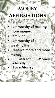 Positive Affirmations Quotes, Wealth Affirmations, Morning Affirmations, Law Of Attraction Affirmations, Affirmation Quotes, Positive Quotes, Motivational Quotes, Inspirational Quotes, Spiritual Manifestation