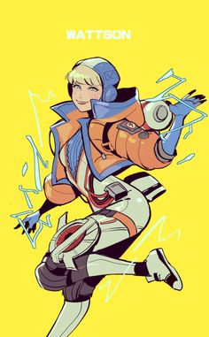 Wattson by // Apex Legends CLaim your gift now Video Game Art, Video Games, Anime Images, Arte Grunge, Character Art, Character Design, Electronic Arts, Battle Royale, Gaming Wallpapers