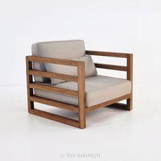 Inspiração de poltrona de madeira