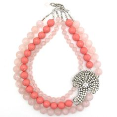 Ravishing in Rose necklace by Elva Fields #elvafields