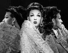 ( Violet Chachki and Miss Fame ) One externalized, so classic, of being Female ! Really fascinating classicism of these two gorgeous Gurl ! Violet Chachki, Amanda, Alyssa Edwards, Adore Delano, Rupaul Drag, Love Your Hair, Pretty People, Amazing Women, Pin Up