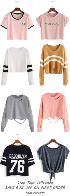 Crop Tops Collection - romwe.com (Crop Top Fashion)