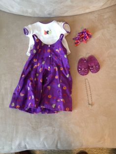 RARE  RETIRED American Girl Doll Birthday Outfit (Lawn Party Outfit)
