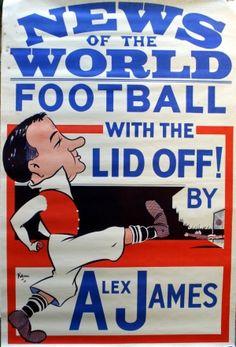 Football Alex James Arsenal, 1937 - original vintage sports feature (News of the World) listed on AntikBar.co.uk