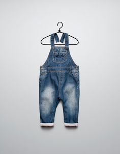 7d3c3a7a35 DENIM DUNGAREES WITH FLEECE LINING - Jeans - Baby girl (3-36 months)