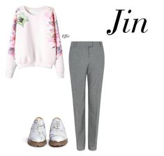 """first meeting with Jin"" by effie-james ❤ liked on Polyvore featuring art, simple, kpop, korean, bts and jin"