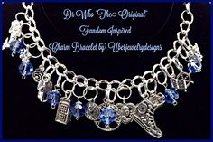 Doctor Who The Original Fandom Inspired Charm Bracelet Jewelry geekery Style with Tardis by Uberjewelrydesigns by Uberjewelrydesigns on Etsy
