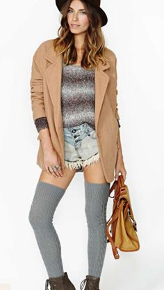 Shop sale dresses, tops, bottoms, shoes & accessories at Nasty Gal! Thigh High Tights, Thigh Highs, Nasty Gal, Fashion Accessories, Hipster, Punk, Fashion Outfits, Knitting, Fitness