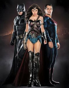 Dan na na na na na na na na na na na na na, BATMAN! And Wonder Woman and superman, but that's besides the point