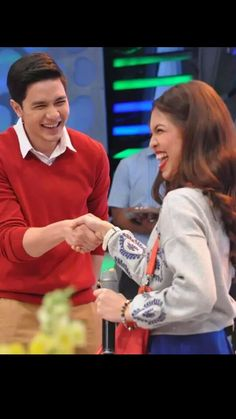 Shipping these two off again and again and again...Alden Richards and Maine Mendoza ♡♡♡