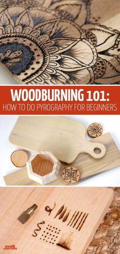 Woodburning Tutorial - How to Learn Pyrography from Scratch - - Looking for a thorough woodburning tutorial for beginners? This free post series teaches everything from tools to techniques and designs. Wood Burning Tips, Wood Burning Techniques, Wood Burning Crafts, Wood Burning Patterns, Wood Burning Projects, Wood Patterns, Pyrography Tools, Pyrography Patterns, Pyrography Designs