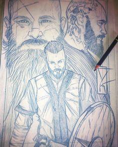 #conceptart #mystyle #pencil #sketch #blue #art #comicbook #tvshow #tvseries #series #vikings #ragnar #ragnarlothbrok #lothbrok by #tonigutierrezart #tonigutierrez