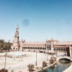 Seville #seville #andalucia #perfect #plazadeespana #otono #morning #honeymoon