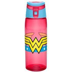 Wonder Woman Large Water Bottle by Zak!, Red