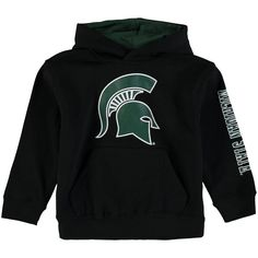 Michigan State Spartans Colosseum Newborn & Infant Big Logo Pullover Hoodie - Black