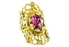 Treat Yourself Pink Crystal Ring, 6 | Wanderlust Glam | One Kings Lane