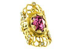 Treat Yourself Pink Crystal Ring, 6 | Wanderlust Glam | One Kings Lane