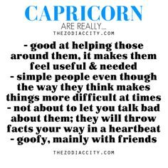 Zodiac Files: Capricorn are really….