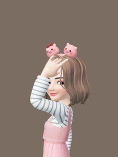 Cute Cartoon Pictures, Cute Cartoon Girl, Cute Love Cartoons, Funny Cartoons, Cartoon Art, Cute Cat Wallpaper, Bear Wallpaper, Afro, We Bare Bears Wallpapers