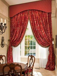 Beautiful Red Gold Drapes