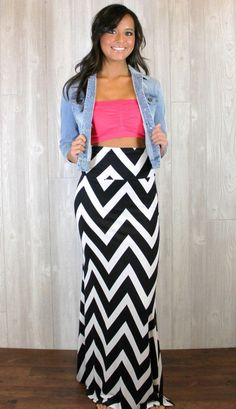 Chevron love... I would wear a tank that covered my belly just fyi lol
