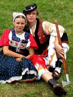 Kroje a tak Folk Costume, Costumes, Folk Clothing, Heart Of Europe, Quirky Fashion, People Of The World, Traditional Outfits, Simply Beautiful, Folk Art