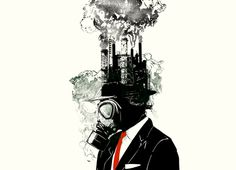 """""""Business Man"""" - Human contamination to the world. Great Design."""