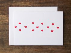 hand painted watercolor valentine #valentine #diy #stationary