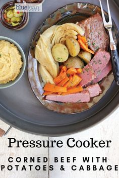 Corned beef, cabbage, potatoes and carrots. This dish hails from Newfoundland. Salt beef is traditionally used in Jiggs Dinner, but corned beef brisket is much easier to find. A great one pot meal to make in your pressure cooker and Instant Pot. Pressure Cooker Corned Beef, Using A Pressure Cooker, Pressure Cooker Recipes, Pressure Pot, Slow Cooker, Cabbage And Potatoes, Corn Beef And Cabbage, Salted Beef Recipe, Corned Beef Recipes