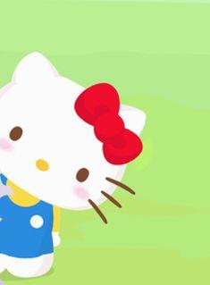Kitty Cam, Hello Kitty Art, Hello Kitty Backgrounds, Hello Kitty Wallpaper, Hello Sanrio, Miss Kitty, Sanrio Characters, Kawaii Drawings, Anime Figures